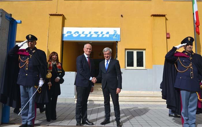 Il Capo della Polizia, Prefetto Franco Gabrielli, in visita alla Questura di Enna