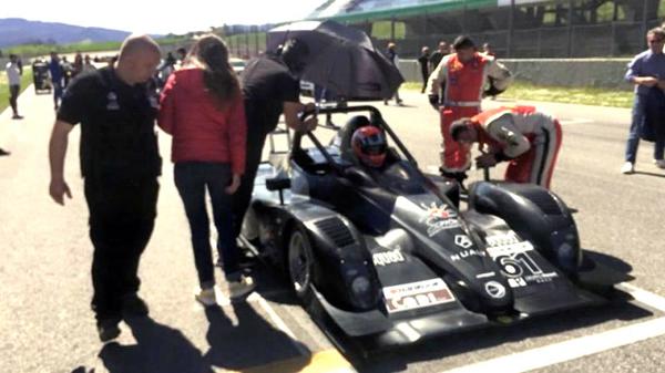 Il pilota ennese Simone Patrinicola alla prova di Monza