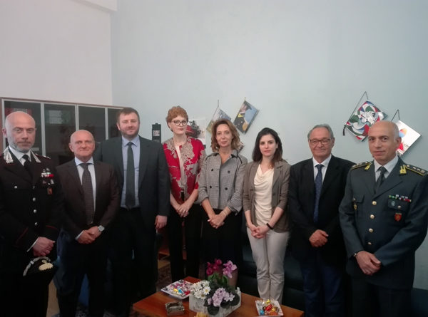Enna, visita in Prefettura dell'ambasciatrice della Bosnia Erzegovina presso la Santa Sede