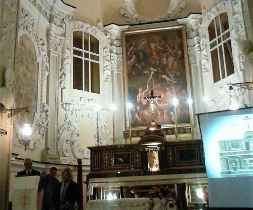 Enna, nella Chiesa delle Anime Sante svelato l'altare maggiore restaurato