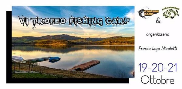 Leonforte, sesta edizione del Trofeo Fishing Carp in programma dal 19 al 21 ottobre presso la Diga Nicoletti