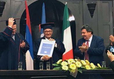 Conferita la Laurea Honoris Causa al presidente dell'associazione Luciano Lama dall'Università di Banja Luka