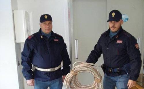 Rinvenuti dalla Polfer di Caltanissetta 100 metri di cavo di rame rubato dalla Stazione di Enna