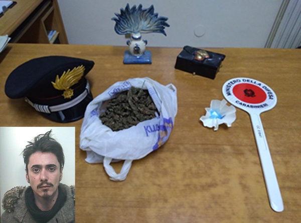 Barrafranca, carabinieri arrestano giovane pregiudicato piazzese per detenzione e  spaccio di marijuana