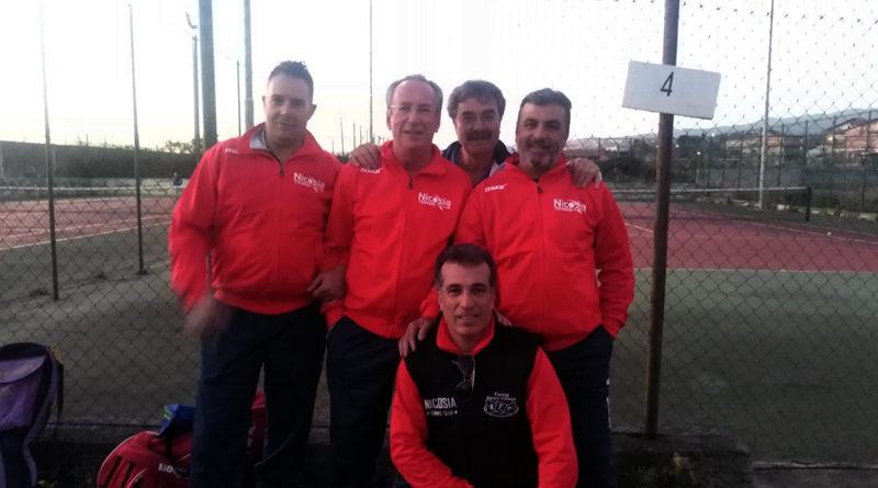 Tennis, sconfitta onorevole per l'over 50 del Nicosia Tennis Club a Paternò