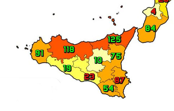 Coronavirus. In Sicilia il 17 settembre nelle ultime 24 ore i nuovi contagi sono 602, i decessi sono 16