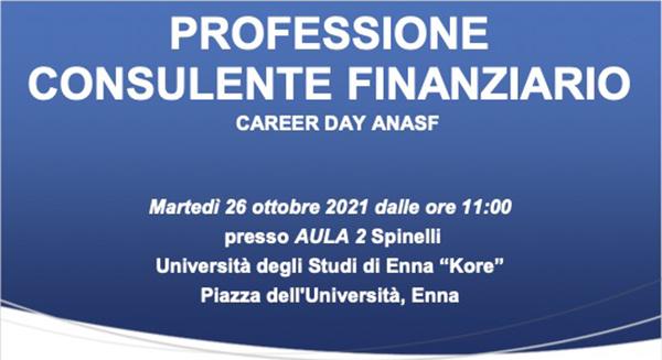 Professione consulente finanziario, il career day di Anasf a Enna