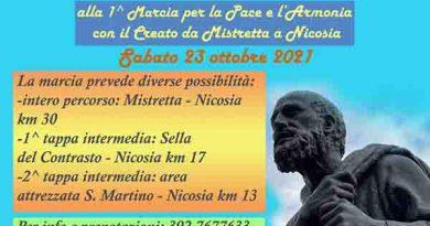 """Il 23 ottobre da Mistretta a Nicosia la prima """"Marcia per la Pace e l'Armonia con il Creato"""""""